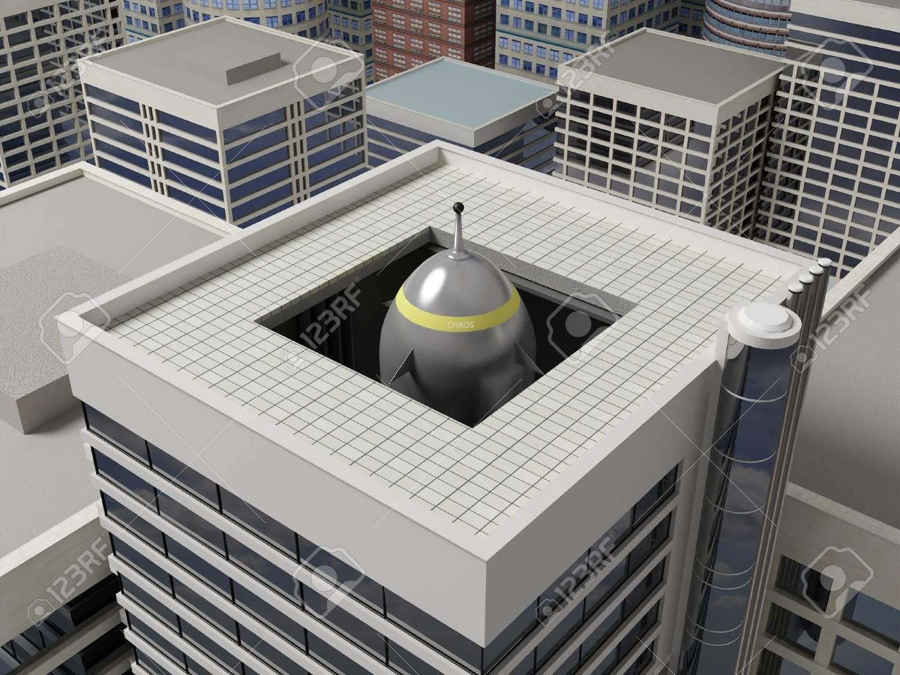 47412168-高層ビルの建物に隠されたロケット発射装置-.jpg