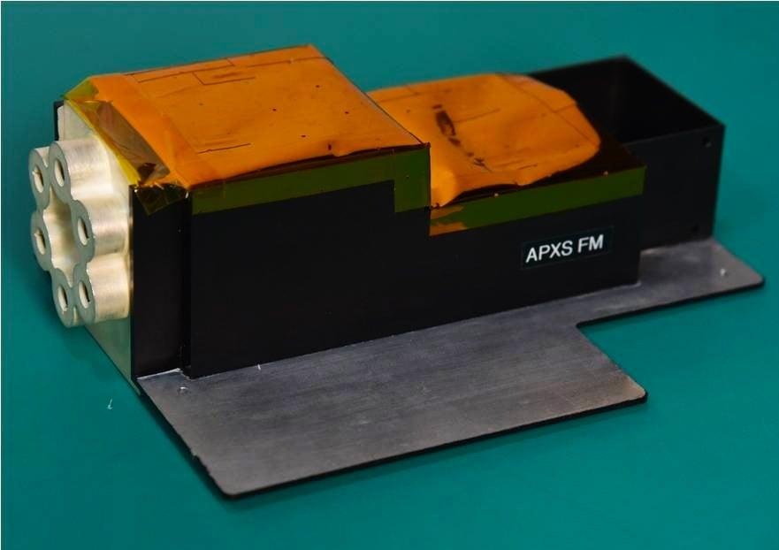 Flight model package of APXS - Side view .jpg