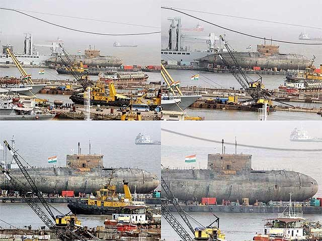 INS Sindhurakshak brought out of water after 10 months - The Economic Times.jpg