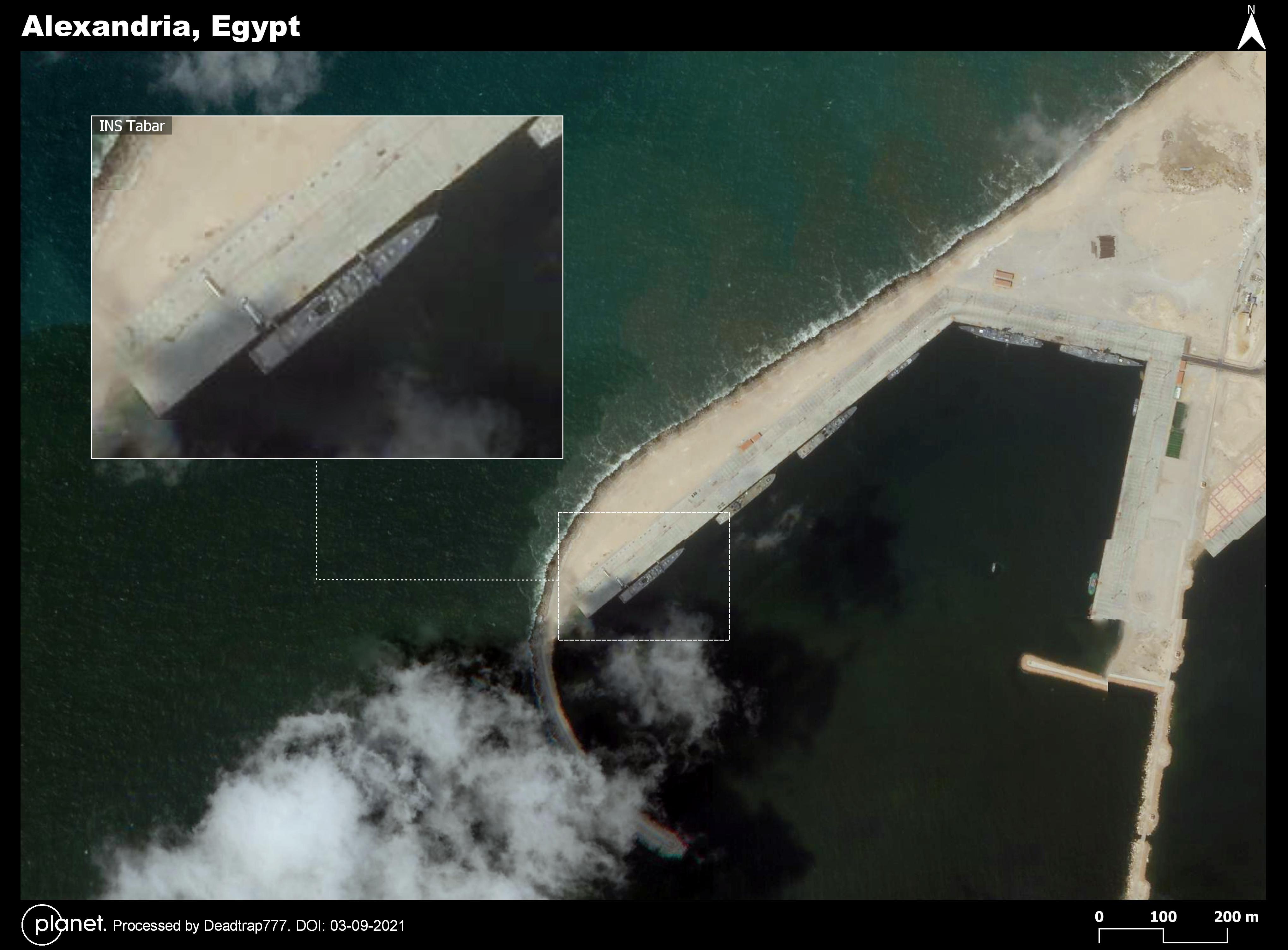 INS Tabar Egypt 3 Sept Map.jpg