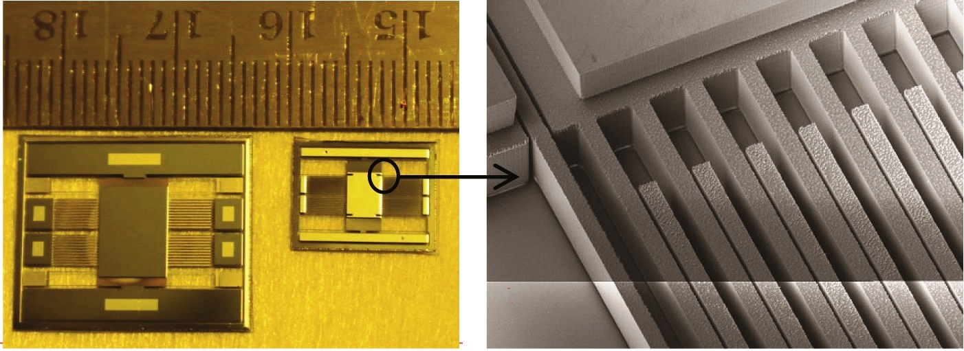 Photographs of coarse and fine range MEMS sensor elements (a) with SEM image showing the elect...jpg