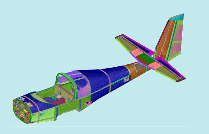 Saras Mk2 fuelage finite element model.jpg