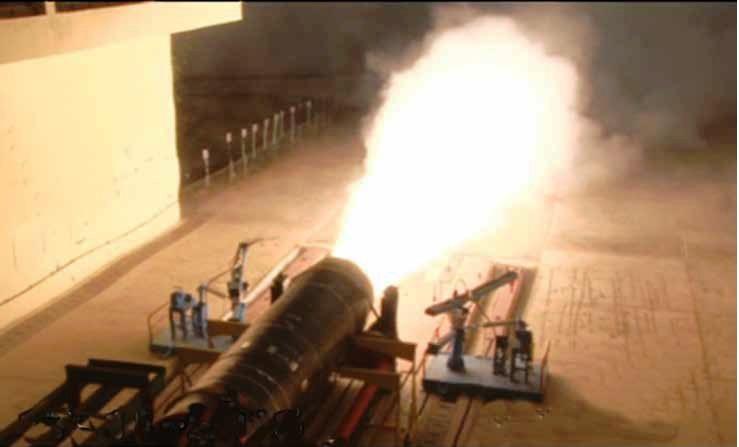 Static Testing of Large Solid Rocket Motor Agni 5.jpg