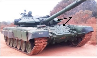 T-72 Tanks fitted with ERA Mk-II Panels.jpg