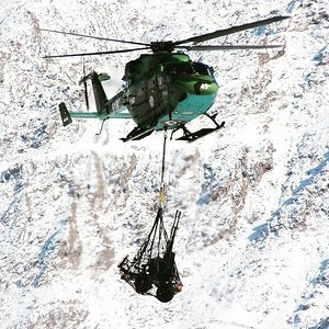 Indian Army Dhruv transport Zu-23 Anti Air Gun