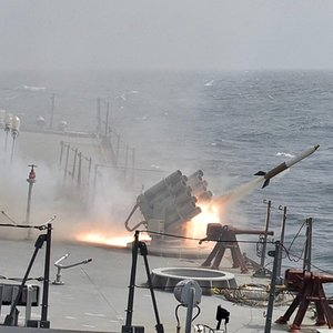 Indian Navy INS Chennai Kavach Rocket System
