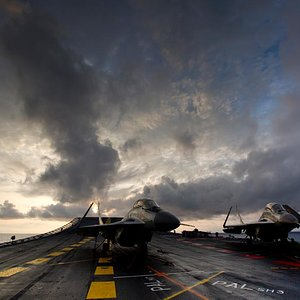 Indian Navy MIG 29K on INS Vikramaditya