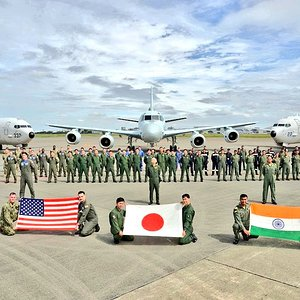 Indian Navy P-8I Neptune,with US P-8A Poseidon, Japanese Kawasaki P-1