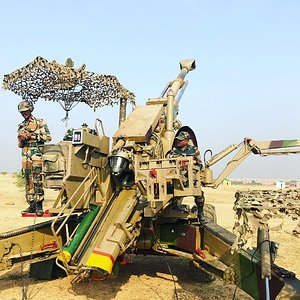 Indian Army FH77B 155mm, 39 calibre guns
