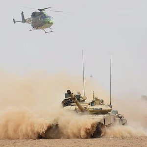 Indian Army T90S Bhisma and Dhruv