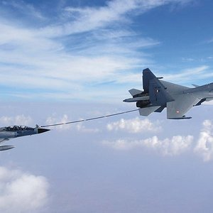 IAF Mirage 2000 and Su 30 MKI Buddy Refueling