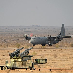 IAF C130 and Akash SAM