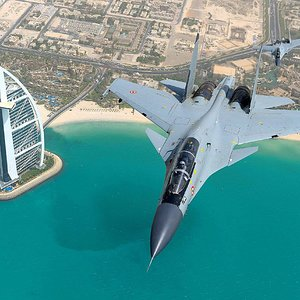 IAF Su-30MKI over the Burj Al Arab