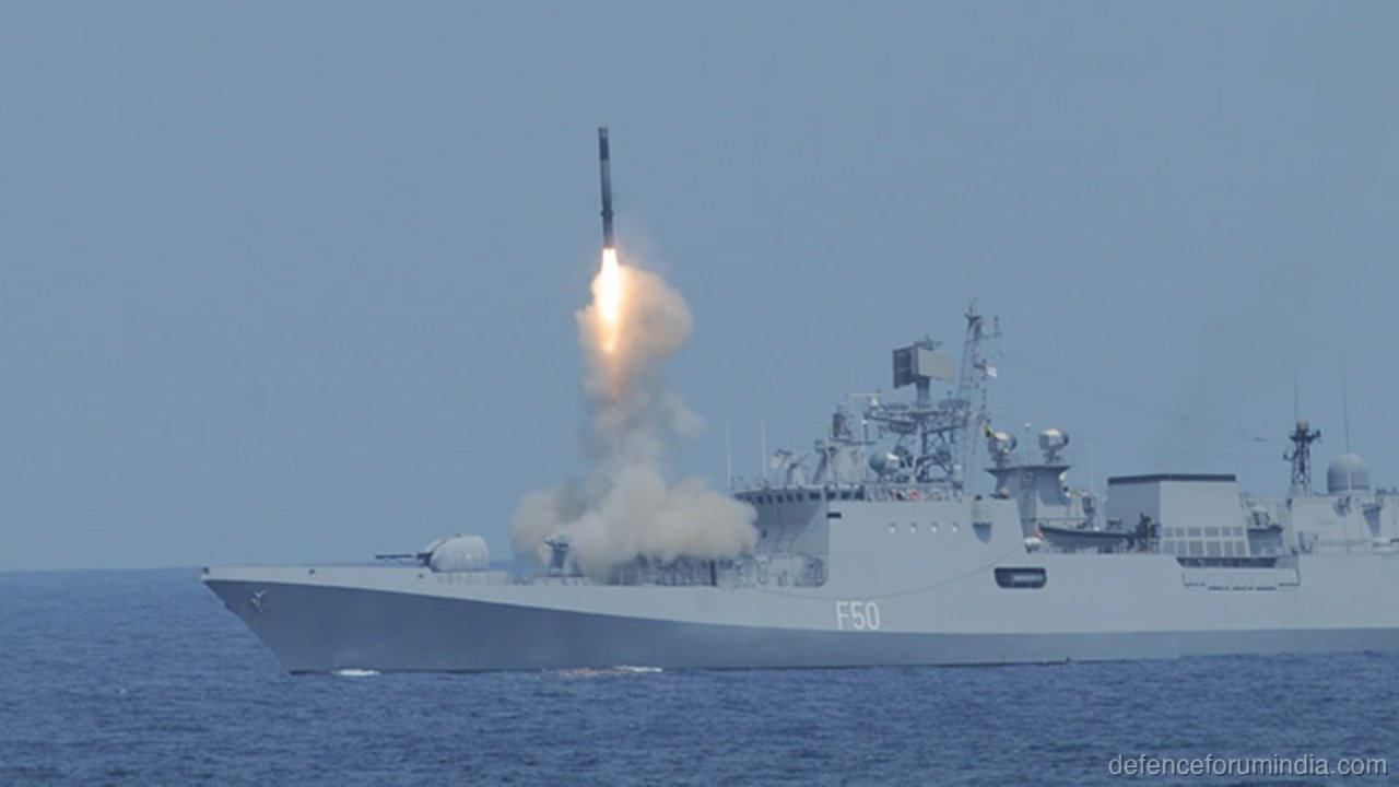 Talwar Class Frigate Launch Brahmos Missile